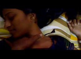 Young Indian Couple having fun in the room