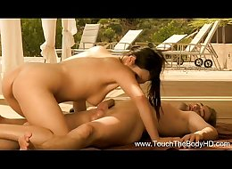 Hot Oil Massage From Asian Slut